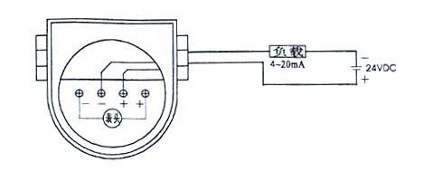 七,热电阻温度变送器校验步骤   1,标定时,按以上典型接线图接线,在