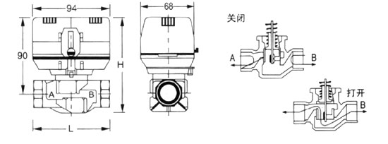 4,选择普通型驱动头,一个温控器只能配一个电动阀