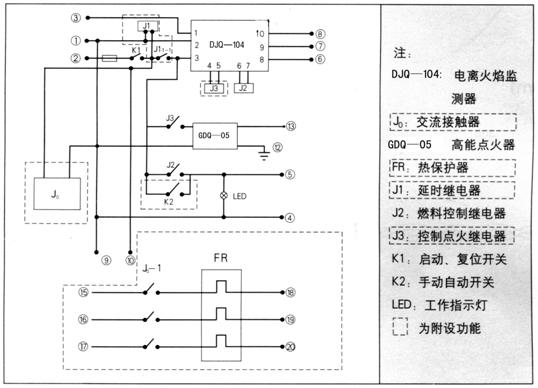 rkq-2燃烧控制器电路及接线图