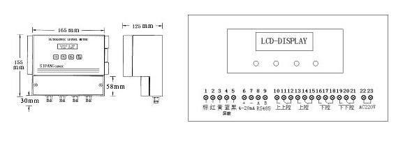 供电电源:220vac或24vdc     防护等级:ip67     显示方式:背光液