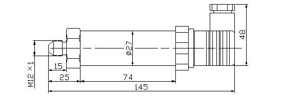 压力变送器 压力变送器  hc-f压力变送器 l   测量端带不锈钢隔离膜片