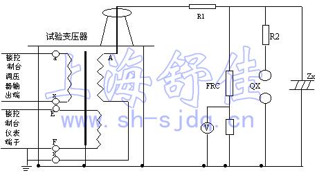 工频耐压试验使用接线原理示意图