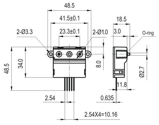 毫升气体流量传感器