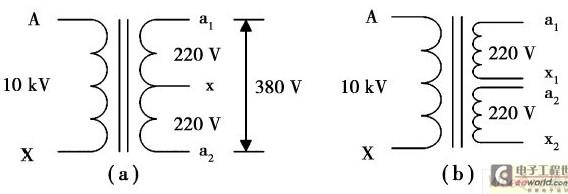 单相变压器接线图