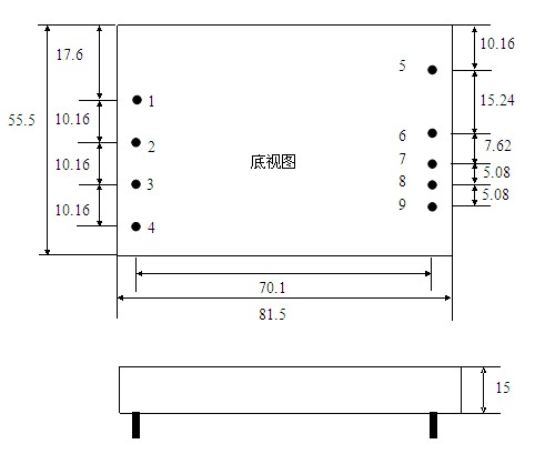 5w 小功率开关 小体积电源模块 供应dc/dc50w~120w 升压/降压直流转