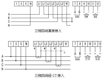 供应dtsf1352电子式三相复费率电能表/预付费电表