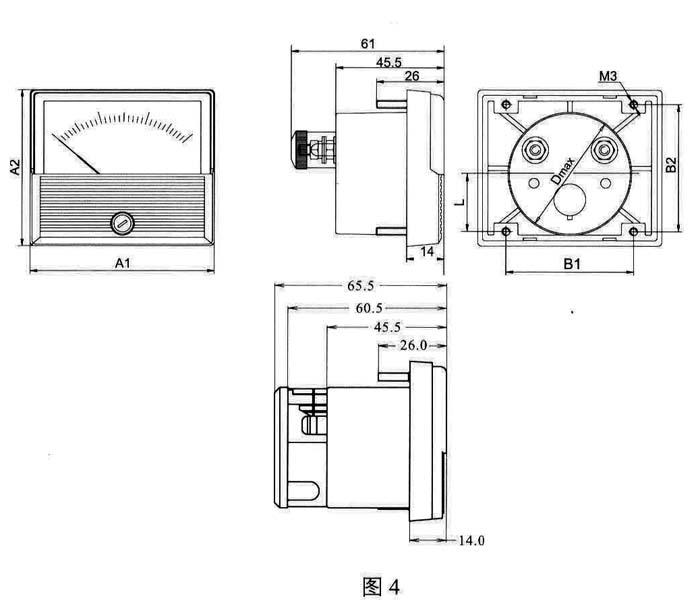 电流表电压表直流表接线图片