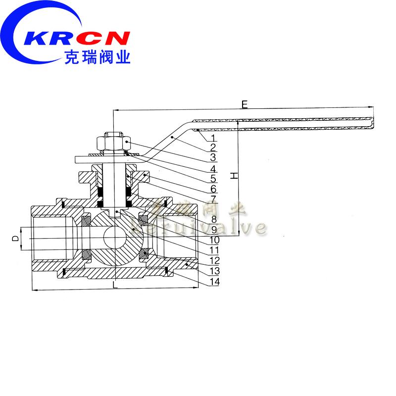 """产品名称:三通球阀 工程通径:1/2""""~4""""(dn15~dn100) 工程图片"""