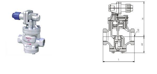 yg13h/y 内螺纹连接高灵敏度蒸汽减压阀图片