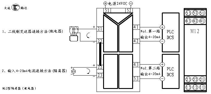 m12型一入二出配电隔离器