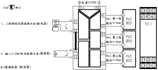 m13型一入三出配电隔离器