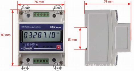 单相导轨电能表电子式,rs485通信,电子式