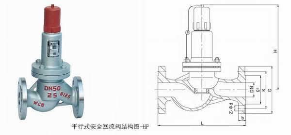 平行式安全回流阀 液化石油气安全阀 安全溢流阀图片