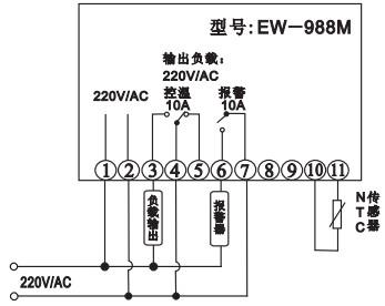 电脑温控仪,加热温控器,ew-988m