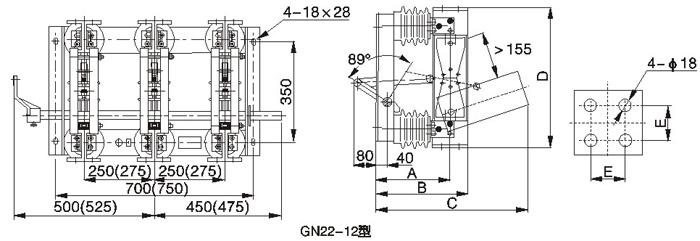 适用于额定电压10kv,三相交流50hz,电力系统中高压开关设备作为有电压