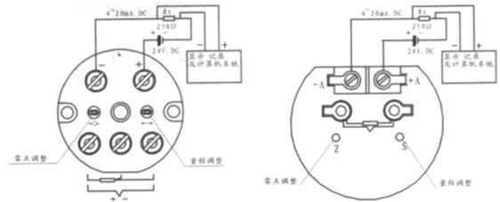12.一体化防爆热电偶/热电阻仪表接线方式
