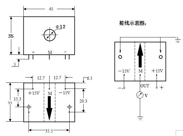 用于测量直流,交流,脉冲电流及其它器任意波形电流 产品优势 :pcb电路