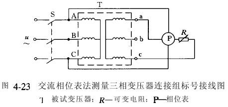 测量三相变压器连接组标号方法