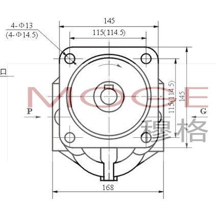 moge穆格, cbgj1/1 双联系列高压齿轮泵采用浮动侧板结构,具有高效率