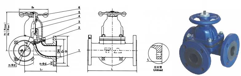 t型三通隔膜阀-隔膜阀图片