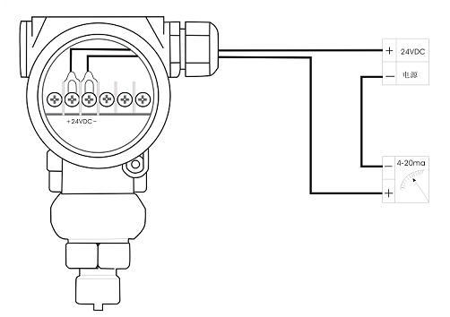 变送器和plc电路图图