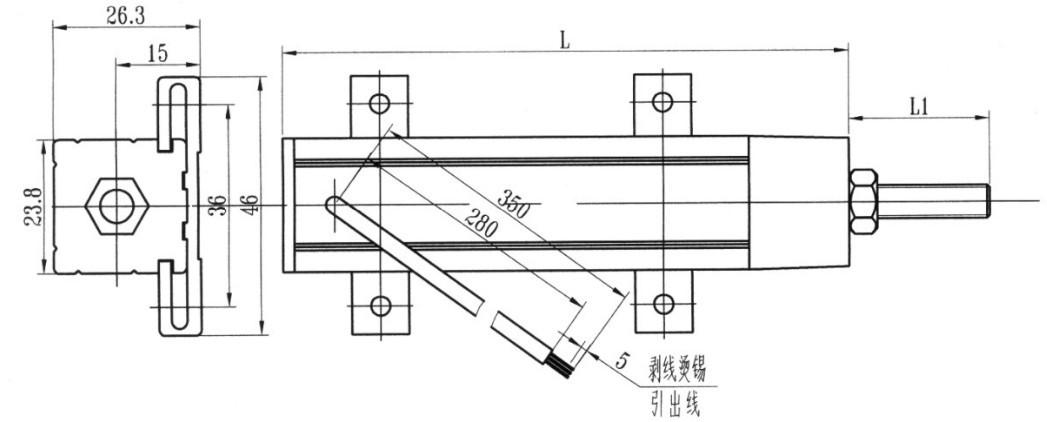 cwy30-300精密线位移导电塑料传感器