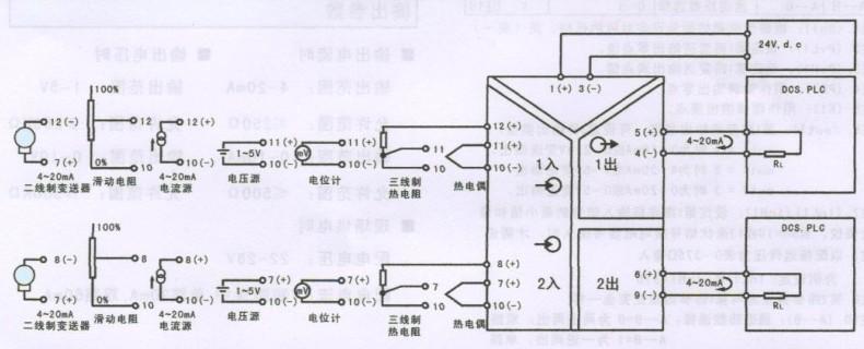 ywp系列信号隔离器接线图
