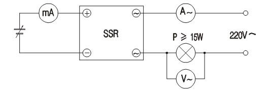 正确的方法采用图3的测试电路:当输入电流为零时,电压表测出的电压为