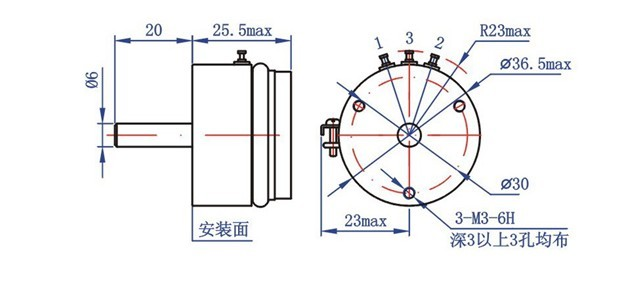 精密位移传感器,自复位角度位移传感器