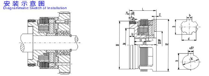 干式多片式电磁离合器