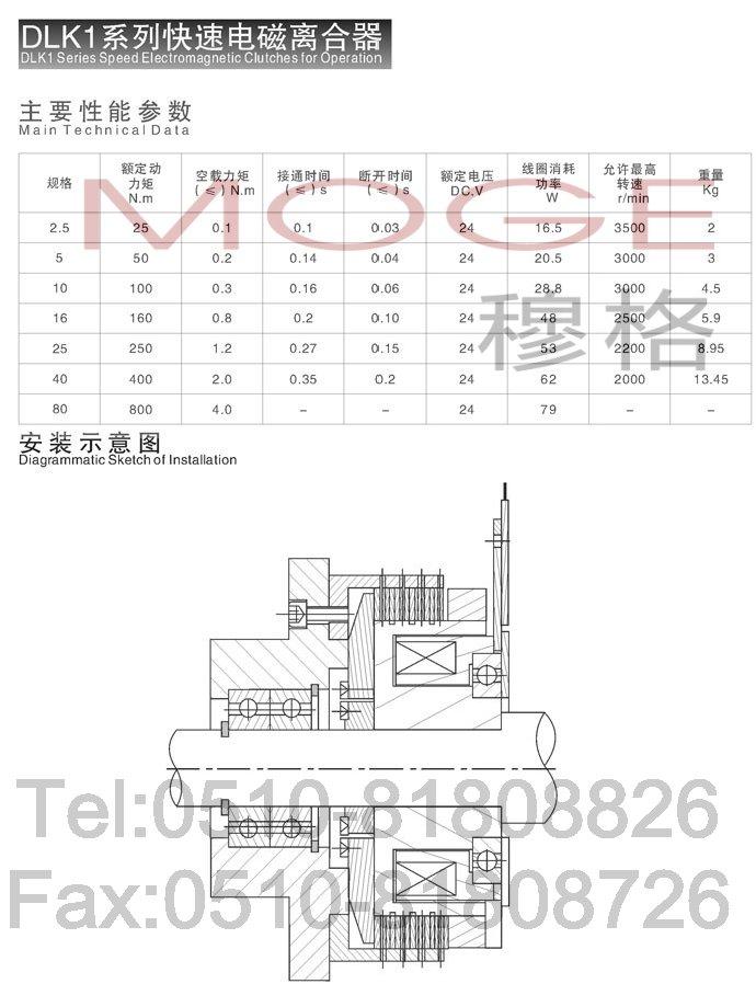 dlk1-80,电磁离合器