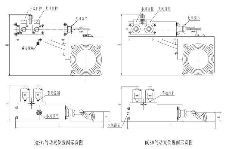 双向电磁阀带双自锁双控制气缸接线图