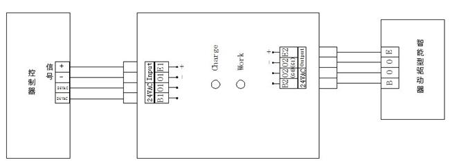 mups-24-x控制器:将备电逆变成交流电供给电动阀工作,同时断开图片