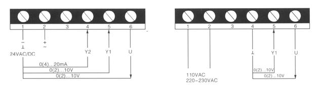 辅助开关接线图如下:                    ms6061系列模拟量风阀驱动图片