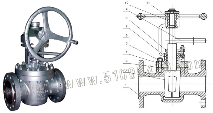 rbt进口自力式流量调节阀  『进口美标提升式旋塞阀结构图』