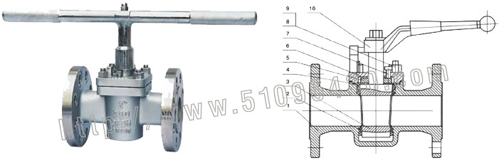 rbt进口自力式流量调节阀   进口软密封卡套旋塞阀结构特点:&
