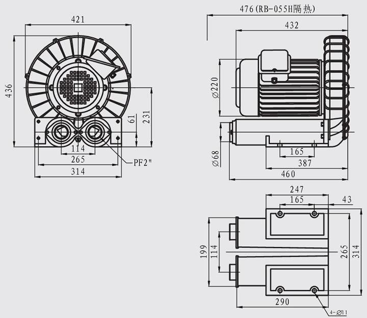 散热器盖结构图